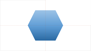 Guías inteligentes le ayudarán a centrar un objeto en una diapositiva