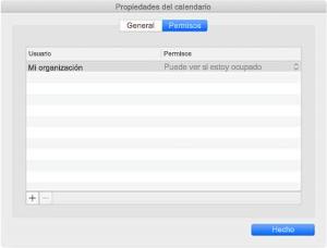 Ventana Propiedades de calendario si usa la sincronización de REST.