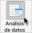 Botón Análisis de datos