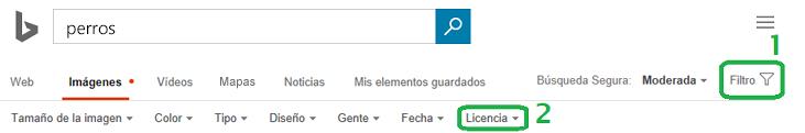 Haga clic en el botón Filtro en el margen derecho de la ventana y, a continuación, haga clic en el menú del filtro Licencia.