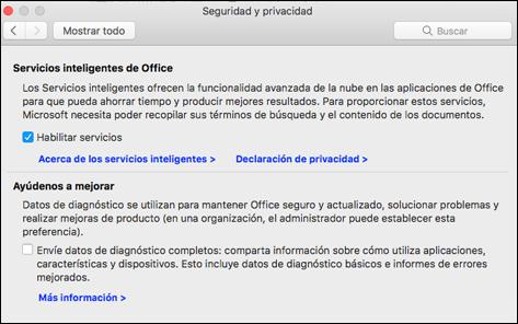 Habilitar características inteligente en el Mac