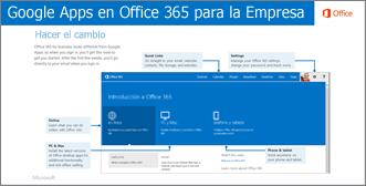 Vista en miniatura de la guía para cambiar entre Google Apps y Office 365