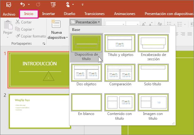 Diseños de diapositivas de PowerPoint