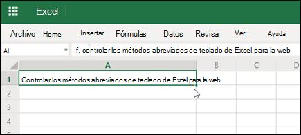 Excel para la web con hipervínculo pegado