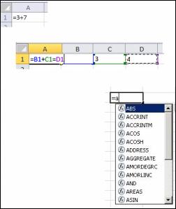 Creación de fórmulas de diferentes formas