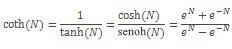 Ecuación COTH
