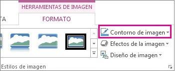 Ubicación de las herramientas de imagen