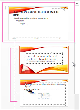 Patrón de diapositivas y dos diseños