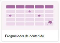 Plantilla de lista programador de contenido