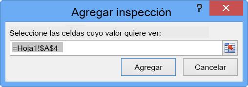 Cuadro de diálogo Agregar inspección