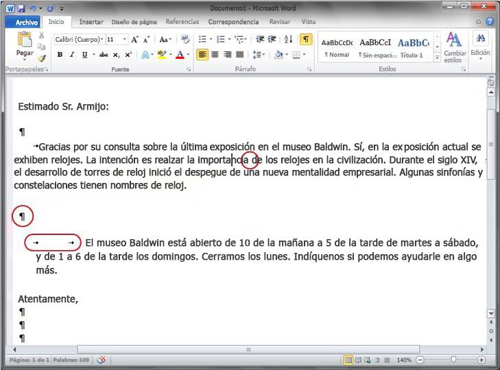 Documento de Word 2010