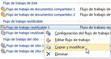 Editar flujos de trabajo