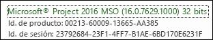 Número de compilación del cliente para equipo de escritorio de Project Online