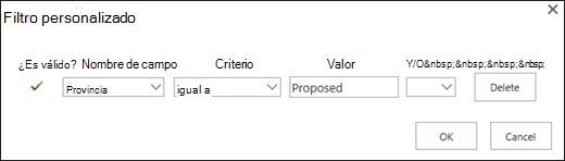 Configurar el filtro de solicitudes de recurso propuesto