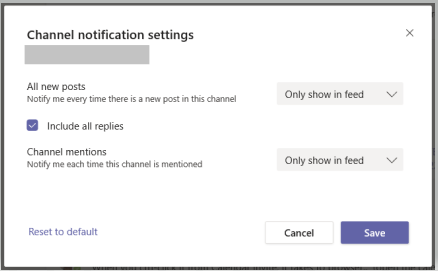 Imagen de la configuración de notificaciones de canales.