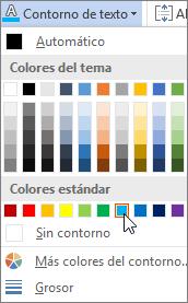 Elegir un color de relleno de texto