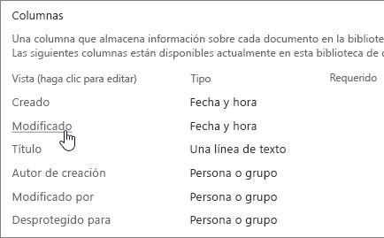 Seleccione la sección de la columna de la columna que muestra de configuración de biblioteca está seleccionado.
