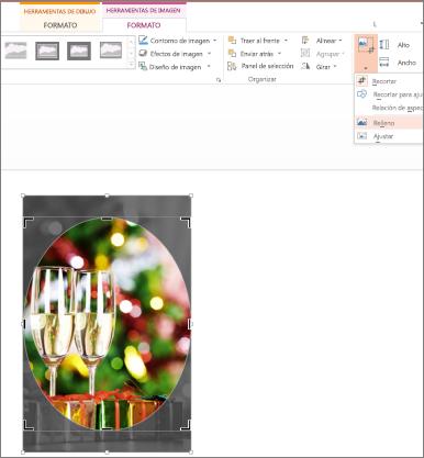 Imagen con Recortar para rellenar forma aplicado