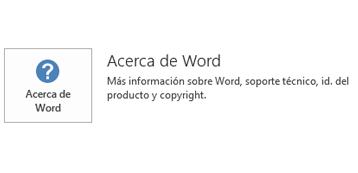 Cuando se ha instalado Office mediante la tecnología del instalador de Microsoft, la información de Aplicación y Actualización tiene este aspecto.