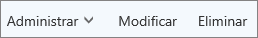 En la barra de comandos Outllook.com, administrar, editar o eliminar contactos