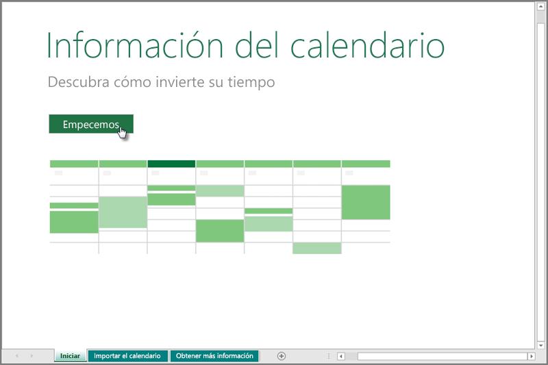 Administrar el calendario con la plantilla de información de ...