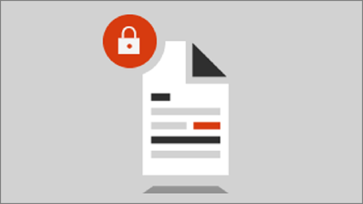Ilustración de un documento protegido