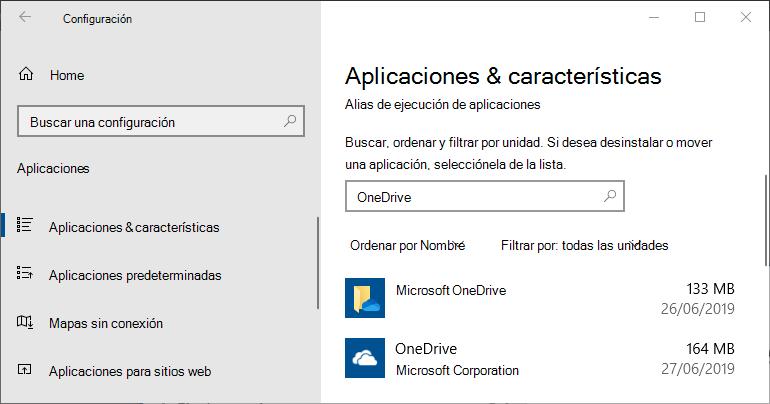 Configuración de la aplicación de OneDrive para Windows