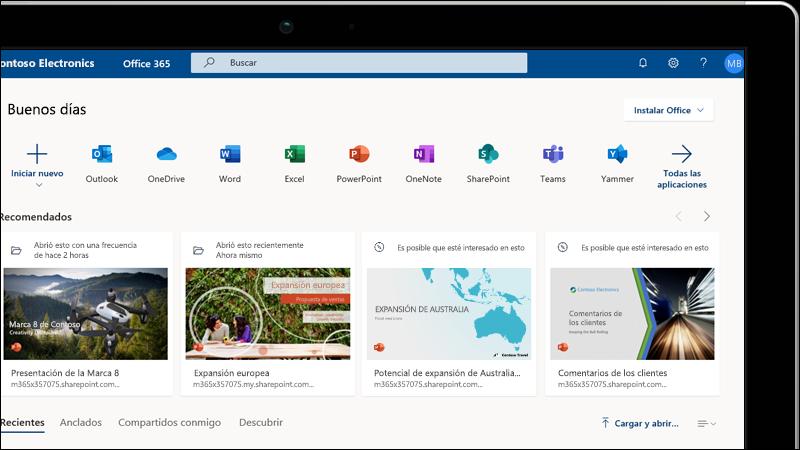 Aprendizaje de Office para la Web