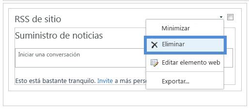 Eliminar elemento web