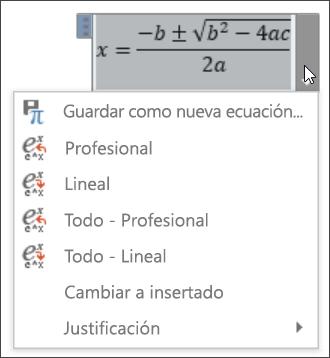 Ecuación Todo lineal