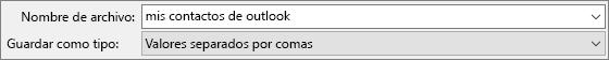 Guardar la libreta de direcciones de contactos como un archivo .csv