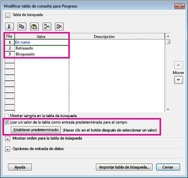 Imagen del cuadro de diálogo Modificar tabla de consulta