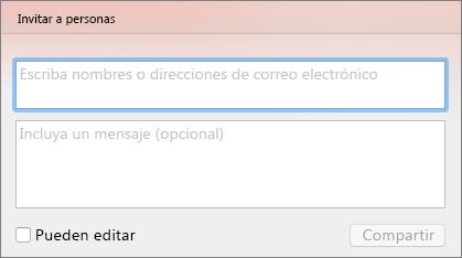 Compartir Invitación en PPT para Mac
