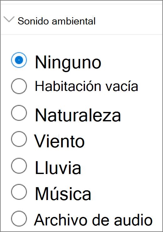 Interfaz de usuario de sonido ambiental