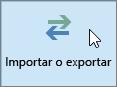 Captura de pantalla del botón Importar o exportar en Outlook 2016