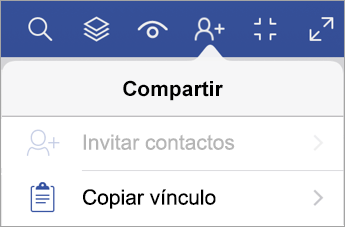 Copiar un vínculo en Visio Viewer para iPad