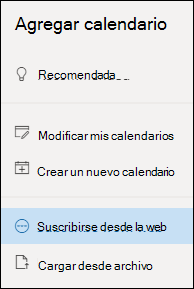 Suscribirse a un calendario