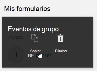 Hacer clic en el botón Copiar de un formulario existente