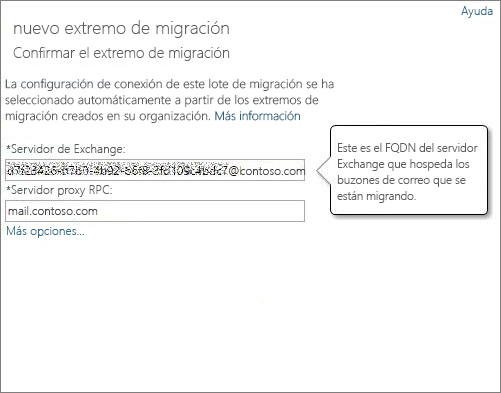 Conexión confirmada del extremo de Outlook en cualquier lugar.