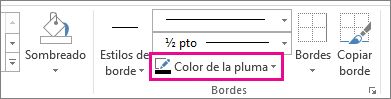 Color del borde de tabla