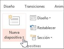 Botón nueva diapositiva