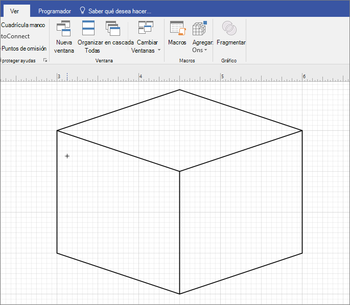 Dibujar la forma manualmente mediante la herramienta línea.