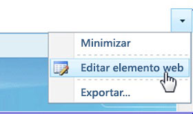 Clic en Editar elemento web
