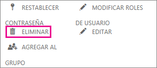 Eliminar un usuario en Office 365.