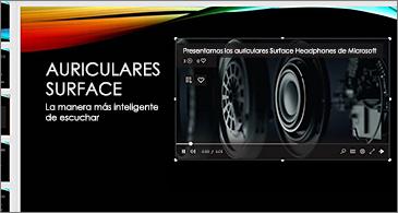 Diapositiva con un vídeo en línea