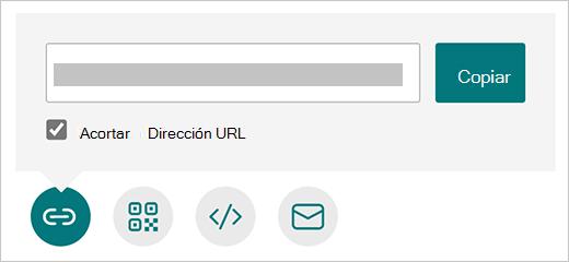 Opción Acortar dirección URL en Microsoft Forms
