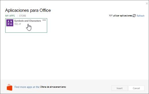 Captura de pantalla muestra la pestaña Mis aplicaciones de la página de aplicaciones para Office.