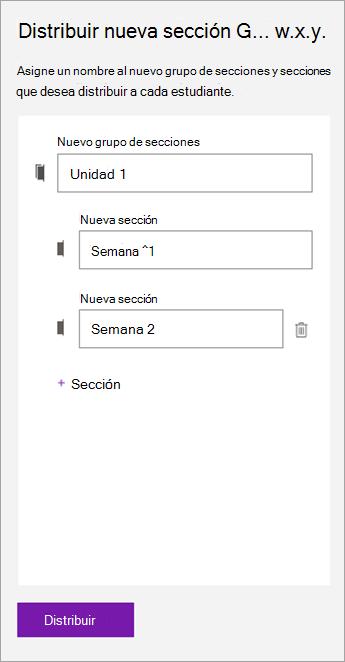 Escriba los nombres de las secciones y el grupo de secciones.]