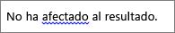 Posible error gramatical marcado por una línea ondulada azul