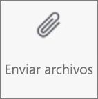 Botón Enviar archivos en OneDrive para Android
